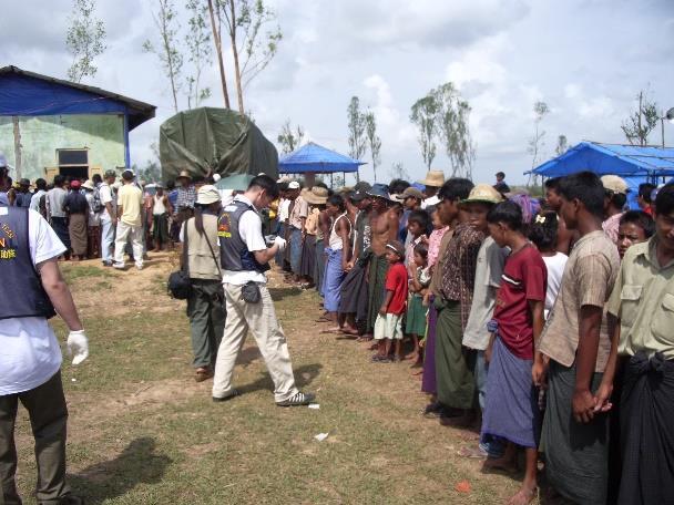 ミャンマー連邦派遣の様子
