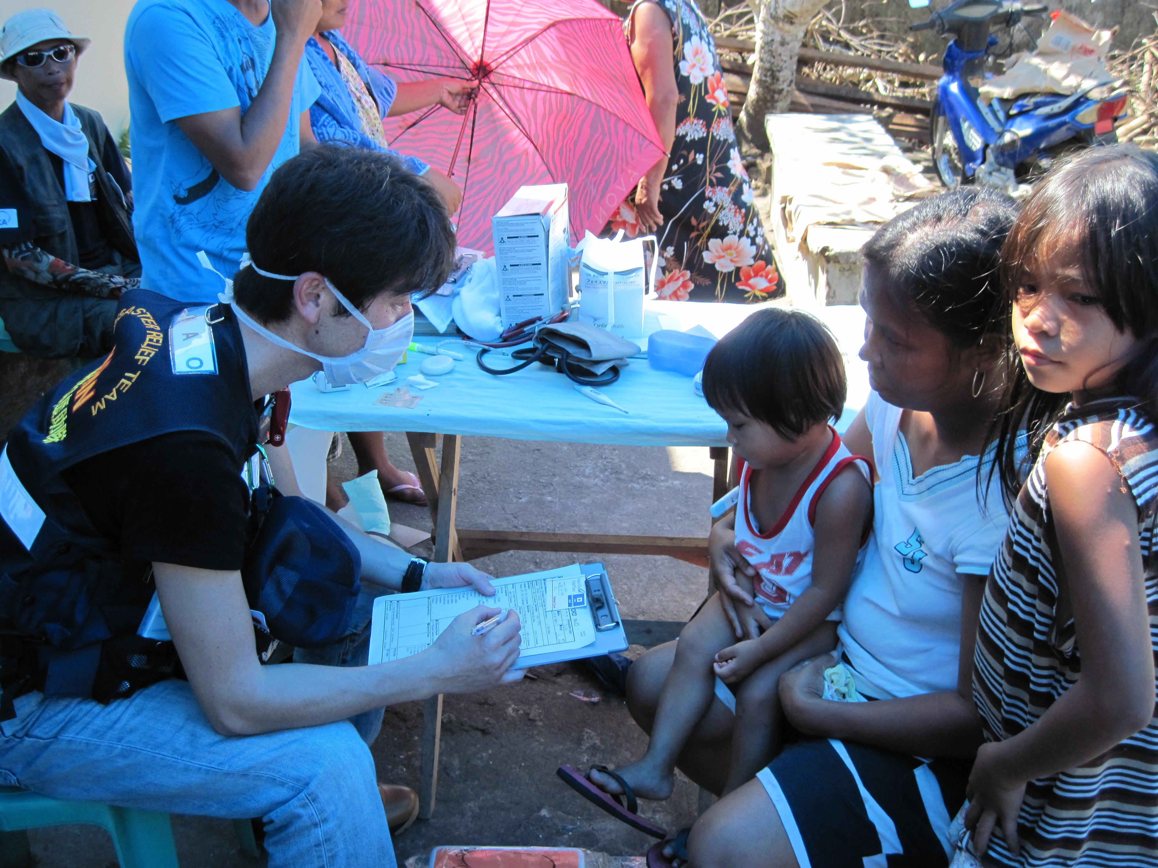 フィリピン共和国台風災害派遣の様子